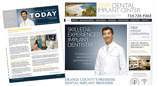 Oral surgeon website and flyer