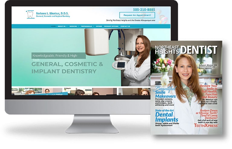 Dental website and magazine