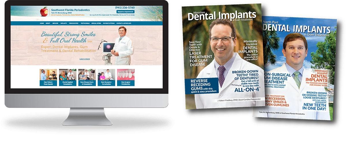 Periodontist website and magazines